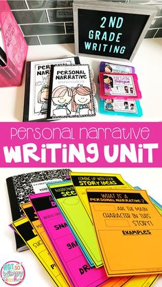 This second grade writing unit includes everything you need to teach personal narrative writing in a writing workshop. It has simple to use lesson plans, anchor charts, task cards, mentor text passages, rubrics and MORE! Writing Lessons, Teaching Writing, Writing Ideas, Math Lessons, Teaching Ideas, Personal Narrative Writing, Personal Narratives, Fourth Grade, Third Grade