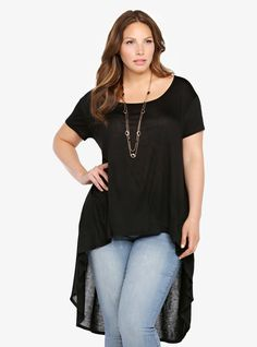 Fall in love instantly with our Hi-Lo Tunic Tee.