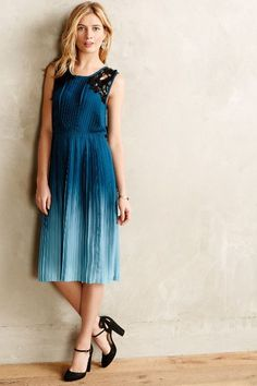 ohhhh. <3 sarah, maybe you should do blue... ;) cerulean depths midi dress, anthro.