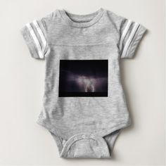 Lighting Bolt (Storm) Baby Bodysuit - light gifts template style unique special diy