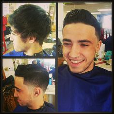 Comb over taper fade.. Hubby got this cut & I love it on him ! Our son (if its a boy)  will FORSURE have this cut !