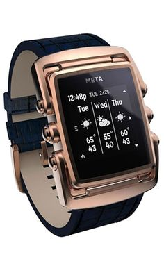 Syncing with your iOS or Android smartphone, this stylish smart watch presents texts, call notifications with ID, and weather info at a glance