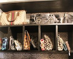 organizing for handbags. Could be used for shoes, etc. I NEED this in my new closet!