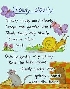 English nursery rhymes poster