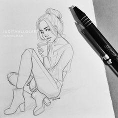 Instagram media by juditmallolart - Bunz and coffee for dayz ☕️ -work break doodle-