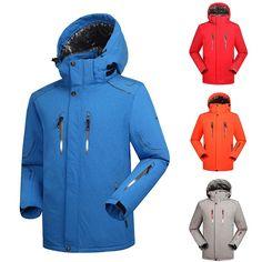 New Men Ski Jacket Winter Skiing Snowboarding Outerwear Snow Sports Coat Clothes