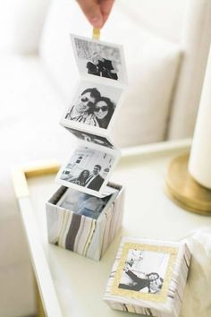 DIY photo box— makes a perfect gift! Diy Instagram, Instagram Giveaway, Photo Boxes, Diy Photo Box, Diy Photo Cards, Photo Ideas, Cards Diy, Photo Craft, Creative Gifts