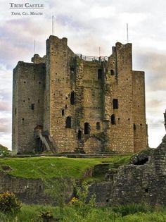 Trim Castle in Ireland, built by Hugh de Lacy is the largest Anglo-Norman castle in Ireland built in 1176-August 11th, 2013