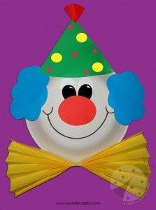 Circus Crafts Preschool, Clown Crafts, Carnival Crafts, Kindergarten Crafts, Craft Activities For Kids, Toddler Crafts, Paper Plate Crafts, Paper Crafts For Kids, Circus Theme