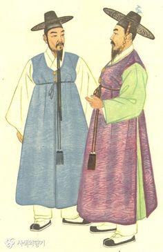 이미지 사이즈 : 600 x 928    이미지 사이즈가 화면보다 큽니다.   왼쪽 버튼을 클릭한 후 마우스를 움직여서 보세요.    더블 클릭하면 닫혀요. Korean Hanbok, Korean Dress, Korean Outfits, Korean Traditional Dress, Traditional Outfits, Korean Art, Asian Art, Drawing Clothes, Historical Clothing