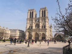 Outside shot of Notre Dame de Paris
