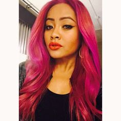 Honey Cocaine Pink Red Purple Hair Style Dope:
