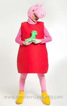 Peppa Pig. Peppa Pig dress. Cosplay costume. by MonstersLand