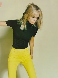 """""""Yellow Fever"""", Amber Valletta by Craig McDean for Vogue UK, 1997"""