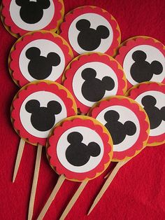Mouse Party Cupcake Toppers. $7.00, via Etsy.