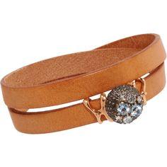 Federica Rettore Diamond, Aquamarine & Leather Sea Urchin Wrap... ($2,310) ❤ liked on Polyvore