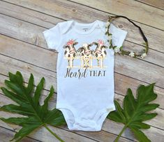 Baby Shower Gift, Heard That, Country Baby, Farm shirt, Cowgirl shirt, Cute Girl Clothes, Niece Gift, Cute Baby Clothes, Cow Theme,Farm baby