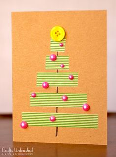 Easy-to-make Christmas cards - Washi Tape Crafts