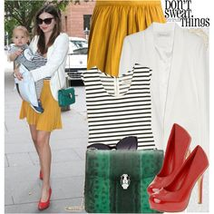 two of my favourites...mustard yellow and stripes!