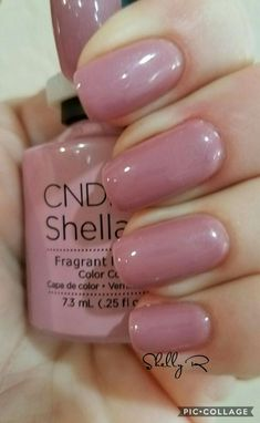CND gel Fragrant Freesia 01/14/17 Trugel base and top. Easy removal