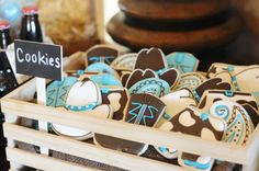 cute cowboy cookies for a cowboy themed party -would be great for my cowgirl ride snack