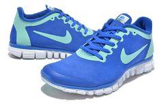 pretty nice 11448 77c7f Nike Free Run 3.0 2S Huang Wool Skin On Sale Blue Green Mens run shoes  Michael