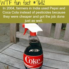 Indian farmers used Pepsi instead of pesticides - WTF fun fact