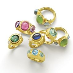 Elizabeth Locke everything ~ love all of these rings...the colors are great