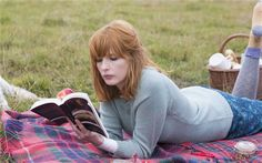 Kelly Reilly in Cavalry -- ignore the article. I just love her hair and outfit.
