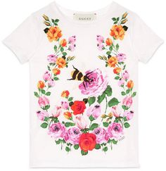 Children's flowers and bees t-shirt