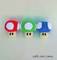 Cafe Con Lana: PATRÓN SETA SUPER MARIO amigurumi