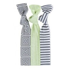 Our Athena™ Hair Tie Set was strategically planned to be super cute! The Grecian Print mixed with Pistachio green makes for deliciously adorable set. #twistband #hair #tie