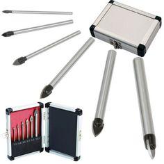 Promotion! New 6pcs Glass And Tile Drill Bit Set Kit 3 4 5 6 8 10 mm + Case #Affiliate