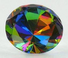 Rainbow Color Diamond Shaped Stone Paper Weight LSArts http://www.amazon.com/dp/B001BREQ42/ref=cm_sw_r_pi_dp_2ziqub1M0Y3EV