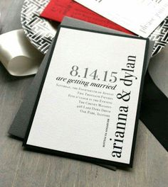 Invitaciones en negro