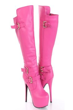 AMIClubwear premier ecommerce site for women's clubwear, party dresses, sexy shoes and bikinis at amazing prices. Heeled Boots, Shoe Boots, Knee High Platform Boots, 6 Inch Heels, Club Shoes, Cute Heels, Sexy Party Dress, Leather Buckle, Cheap Shoes