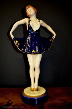 Beautiful Czechoslovakian art deco figurine by Royal Dux.c1920's. In superb condition,no chips,cracks or repair.