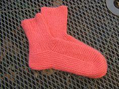 Bedsocks ( not mine) via Ravelry - from vintage Paton's pattern - Great vintage sock pattern - no heel turning involved.