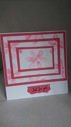 A 6' by 6' card layered with card stock and watercolour stamping.   It is blank inside to write-off own message.  Quality cardstock used from stampin up | Shop this product here: http://spreesy.com/cardsandcreations/26 | Shop all of our products at http://spreesy.com/cardsandcreations    | Pinterest selling powered by Spreesy.com
