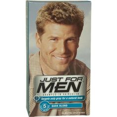 Just for Men Shampoo-In Hair Color, Dark Blond/Lightest Brown H-15, 1 application, (Pack of 3) by Just For Men. $21.56. Shampoo-In Hair Color Dark Blond # 15 by Just for Men. Works in 5 easy minutes. Shampoo-In Hair Color Dark Blond # 15 by Just For Men for Men - 1 Application Hair Color. Ammonia Free Vitamin enriched, Lasts up to six weeks. Shampoo-In Hair Color Dark Blond # 15 by Just For Men for Men - 1 Application Hair Color. Save 11% Off!