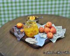 Scale miniature food & more. by Bel Ayala by BelsMiniWorld Great British Bake Off, Miniature Food, Minis, Scale, Artisan, Miniatures, Baking, Fruit, Weighing Scale