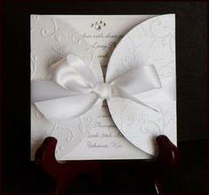 Handmade Wedding Cards with Cricut | Embossed Card Wedding Invitation: This is the most simple idea but how ...
