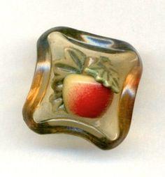 Celluloid Apple Button