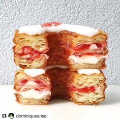 #Repost @dominiqueansel (@get_repost) @bakelikeapro Getting ready for June's Cronut for NYC: Strawberry Lemon Verbena filled with strawberry jam and lemon verbena ganache a perfect combination to kick off summertime. Pre-orders are up now at http://ift.tt/1eEjAxV. Email us for large order requests at info dominiqueansel.com. #Cronut #DominiqueAnselBakery