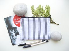 SMALL POCKET POUCH Zipper Pouch Organize by LarvaMade on Etsy