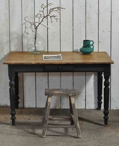 Ladies Vintage Writing Desk On Turned Painted Legs  http://www.homebarnshop.co.uk/product-category/view-all-vintage-reclaimed-furniture-homeware/
