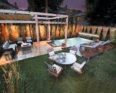 Amazing Landscaping Ideas for Small Backyards Swimming Pools Backyard, Small Backyard Landscaping, Swimming Pool Designs, Backyard Ideas, Tor Design, Small Trees, Gazebo, Patio, Pool Ideas