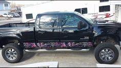 Muddy girl camo. Badass truck.
