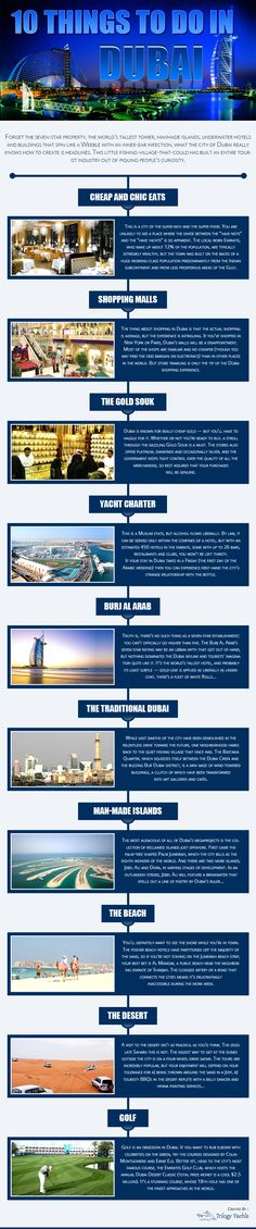 Attention Travelers! 10 Things not to miss in Dubai – An Infographic
