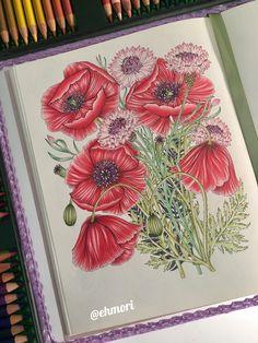 Colorindo flores. 🌸🌿 #thefloweryear #leiladuly